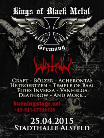Flyer, Kings Of Black Metal 2015